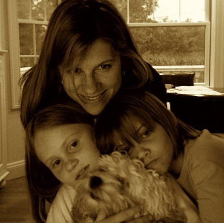 Emily with girls and Piper