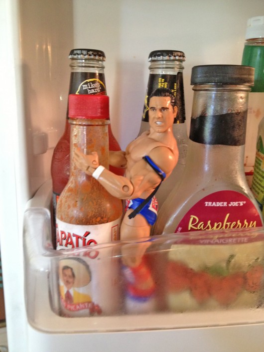 Hedger Wrestler in Fridge